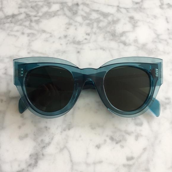 b76ea9bd4588 CELINE Petrol Blue Zoe Petra Sunglasses. M 5c086e492beb7908787533cc. Other  Accessories ...